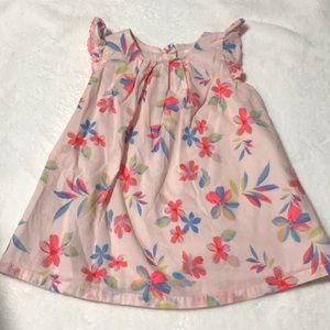 GAP baby pink dress with flowers 12-18 months